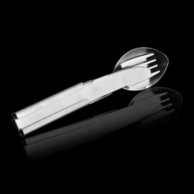 旅行式刀叉勺三件套戶外旅行野餐野炊便攜餐具套裝實用餐具1入
