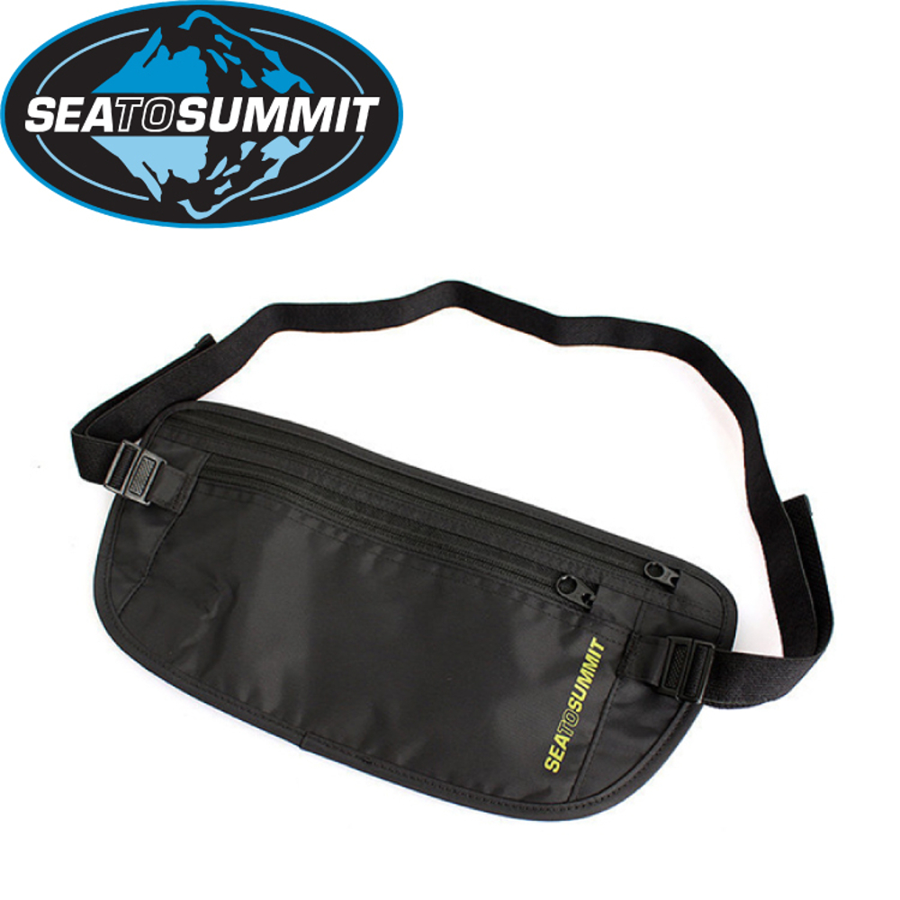 【Sea to Summit 澳洲 藏錢腰包《黑/淺灰》】STSATLMBBK/防竊腰包/零錢袋/旅行腰包