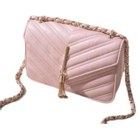 小さなバッグの女性の韓国人さんLinggeチェーンショルダーバッグ小さな正方形のパッケージ対角線パッケージ,ライトピンク
