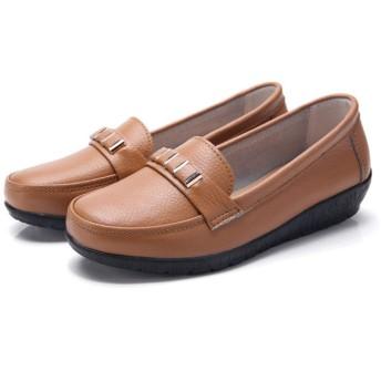 レディース 26.5cm モカシン ラウンドトゥ ビット 通勤 ライトブラウン モカシンシューズ モカシンローファー カジュアルシューズ フラット ローヒール スリッポン フラットシューズ 痛くない 歩きやすい 大きいサイズ 小さいサイズ 婦人靴
