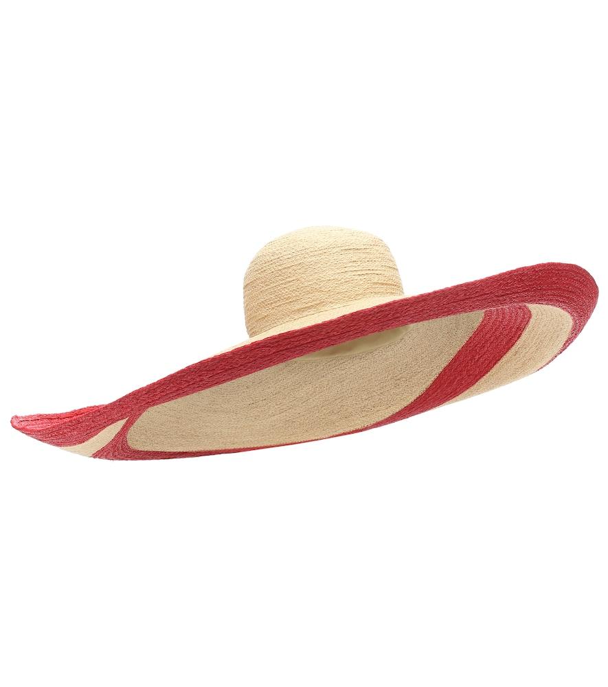 Smoke Rings raffia hat