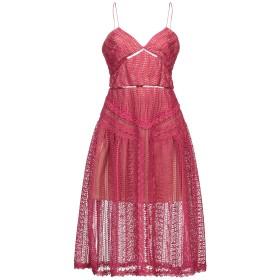 《セール開催中》SELF-PORTRAIT レディース 7分丈ワンピース・ドレス ピンク 10 ポリエステル 100%