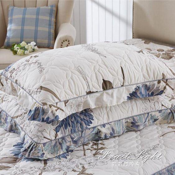 枕頭套枕套純棉夾棉加厚一對裝枕芯枕頭套48全棉74cm大號成人單人用加棉