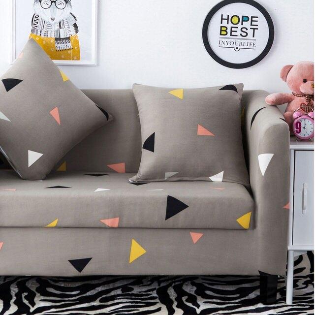 挪威森林 阿基米德創意舒適彈性沙發套/沙發罩/單人座 *贈一個抱枕套