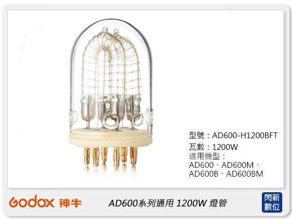 【滿3000現折300+點數10倍回饋】GODOX 神牛AD600-1200W燈頭專用1200W 燈管(公司貨)AD600-H1200BFT
