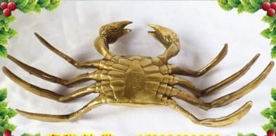 風水銅器銅雕開光銅螃蟹橫 1入