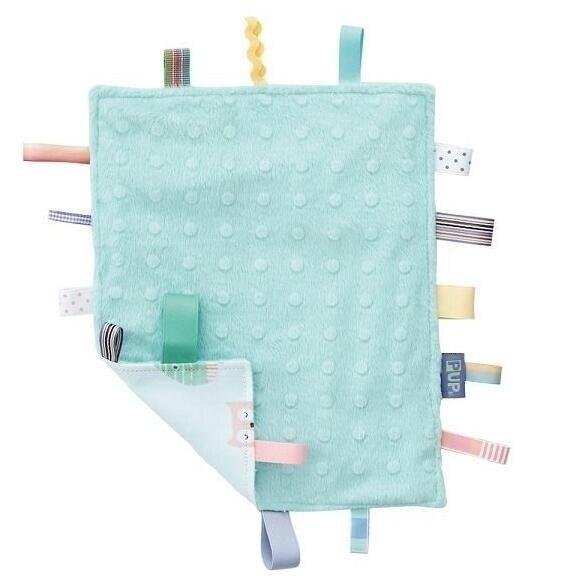 【奇哥】PUP 豆趣標籤響紙安撫巾 (水綠)