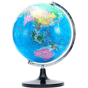 大號學生用32cm世界地球儀帶燈發光擺件中英文高清2019教學兒童生日  聖誕節禮物