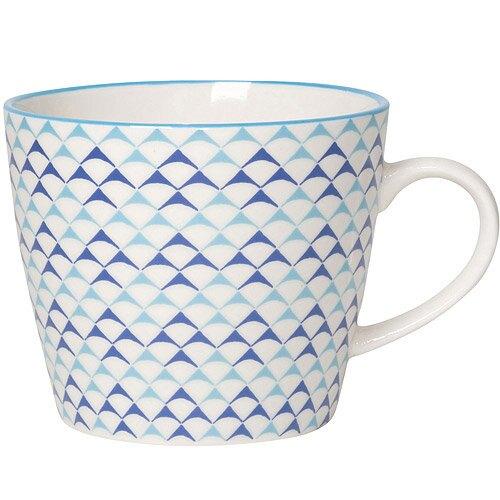 《NOW》圖騰馬克杯(三角藍)