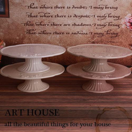 多色鄉村浮雕做舊陶瓷圓形時尚 個性 簡約 蛋糕盤蛋糕托盤 披薩盤(一個價)(圖一)