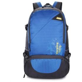 YIYUTING キャンプバックパックアウトドアスポーツ防水ダブルショルダーバッグ登山 (色 : 青)