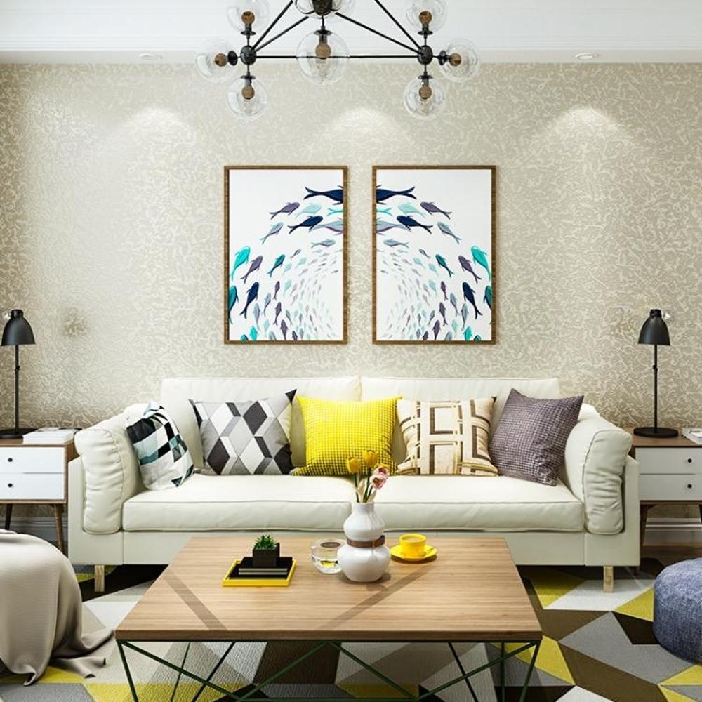 壁紙 素色3D立體硅藻泥無紡布墻紙客廳臥室電視背景墻北歐現代簡約壁紙