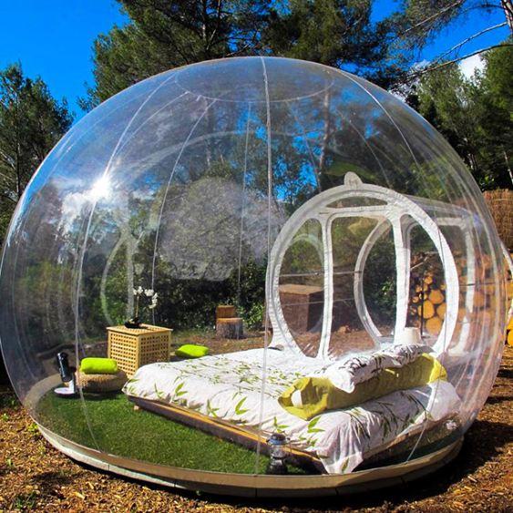 充氣泡泡屋野營透明充氣兒童成人野外住宿LX