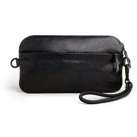 Momentクロスボディバック 黒レザー 財布 クラッチバッグ 小物入れ スマホ、レンズアクセサリーの携帯に