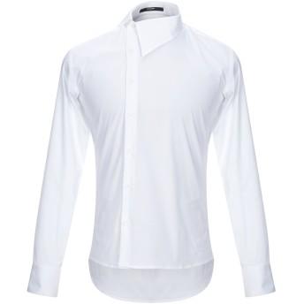 《セール開催中》TAKESHY KUROSAWA メンズ シャツ ホワイト M コットン 97% / ポリウレタン 3%