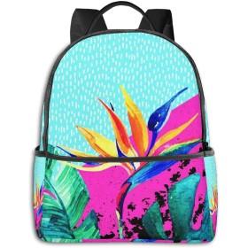 カジュアルバックパックファッションバックパック大容量学校レジャー旅行アウトドアビジネスワークコンフォートユニセックス 熱帯夏