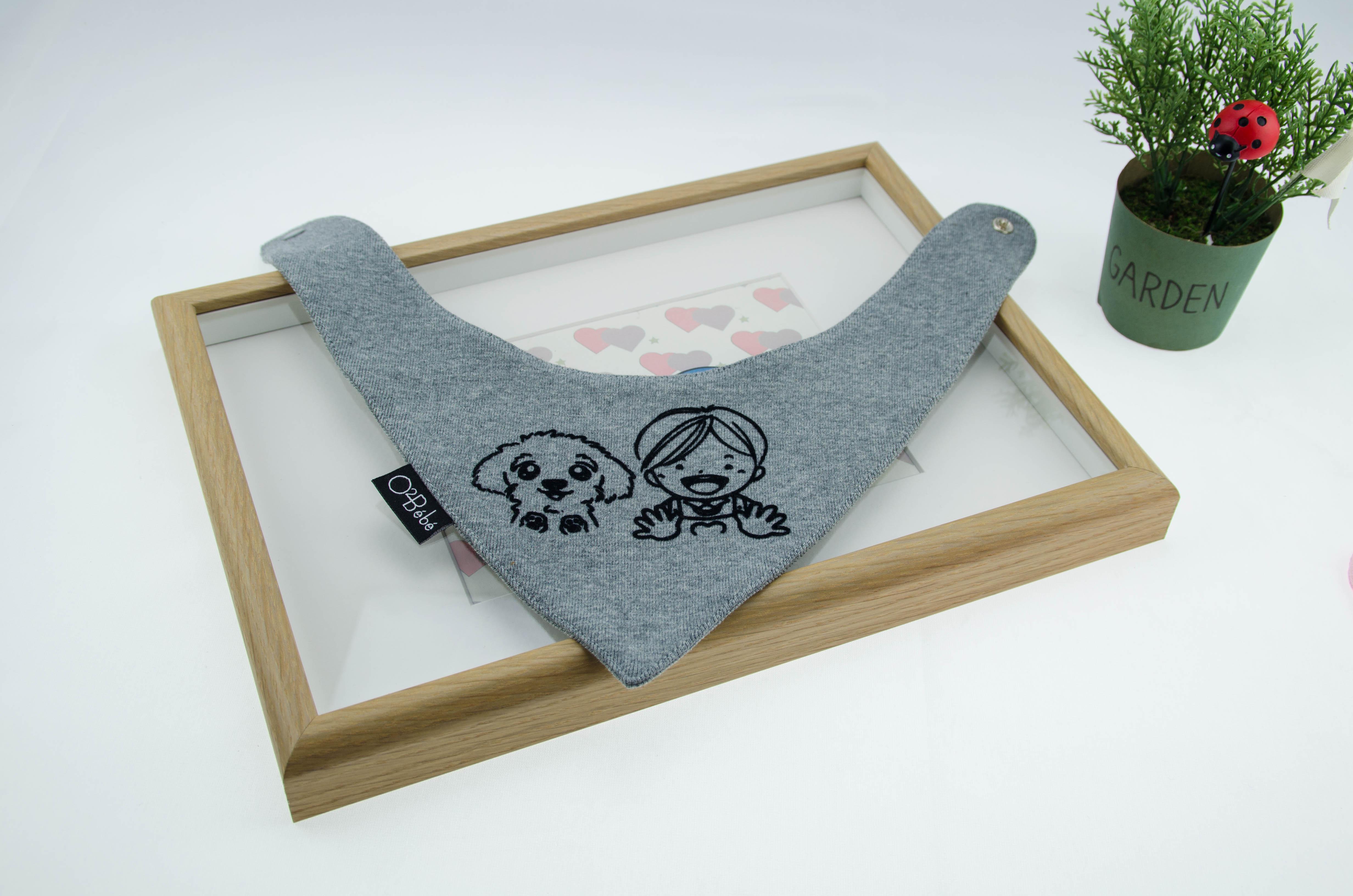 圖形|三角領巾 - 灰