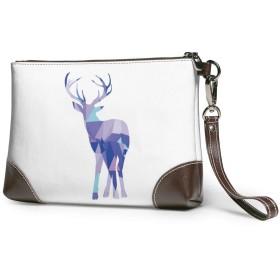 クラッチバッグ ビジネスバッグ バッグ 防水バッグ 鹿 角 かわいい 動物 セカンドバック メンズ レディース 鞄 人気 クラッチ 本革