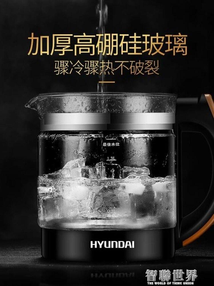 現代養生壺全自動加厚玻璃電煮茶壺多功能家用燒水壺煮茶器小 雙12購物節