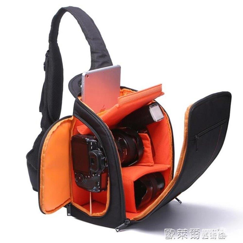 相機包卡登新款單反相機包斜跨攝影包單肩多功能防水包數碼防盜簡約 清涼一夏钜惠