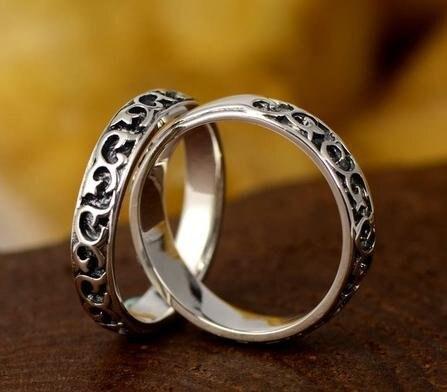 銀戒指 情侶 對戒銀飾品 情人節小禮物 一對價