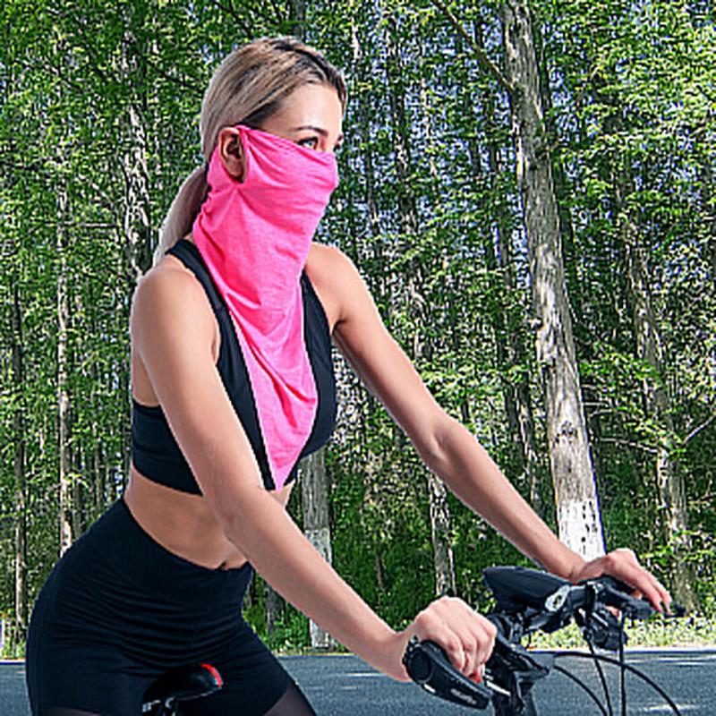 夏季防曬面罩 遮臉護頸遮陽防紫外線騎行面罩 輕薄涼爽防曬冰絲口罩【小冰生活百貨】