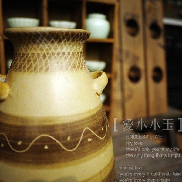 【古陶坊:磨砂魚紋花瓶】陶瓷器手工複古做舊禪意花藝茶道香道