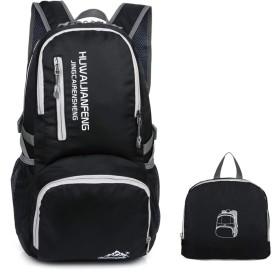 Kosun 折りたたみ リュック バッグパック 超軽量 防水 アウトドア 旅行 キャンプ ハイキング サイクリング スキー 登山用 40L (ブラック)
