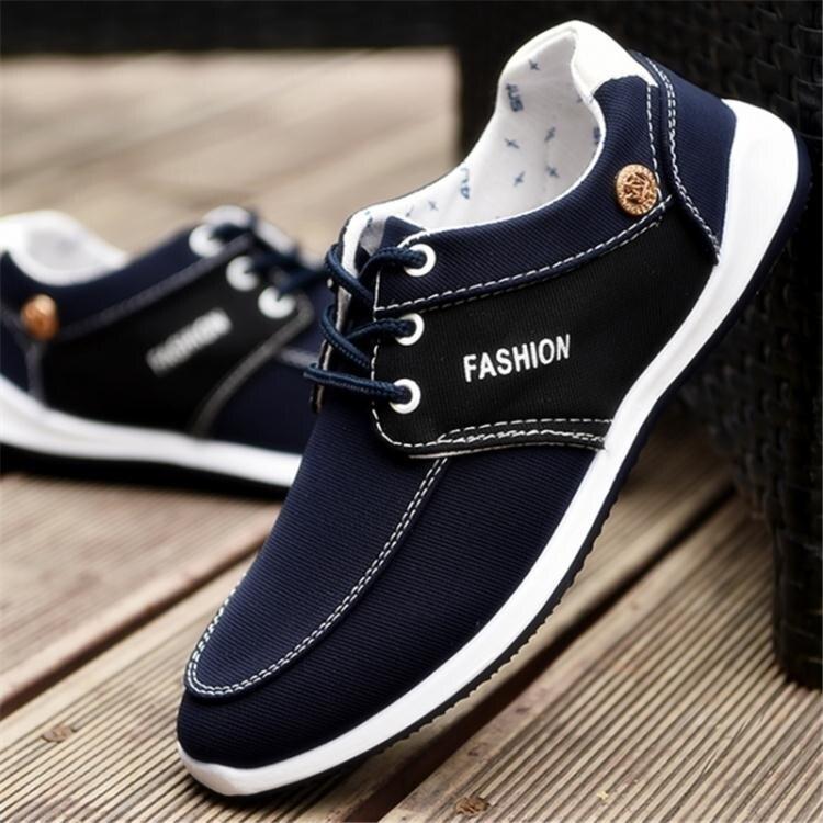 休閒鞋 佈鞋男士韓版潮流休閒鞋百搭鞋子帆佈鞋 全館八八折