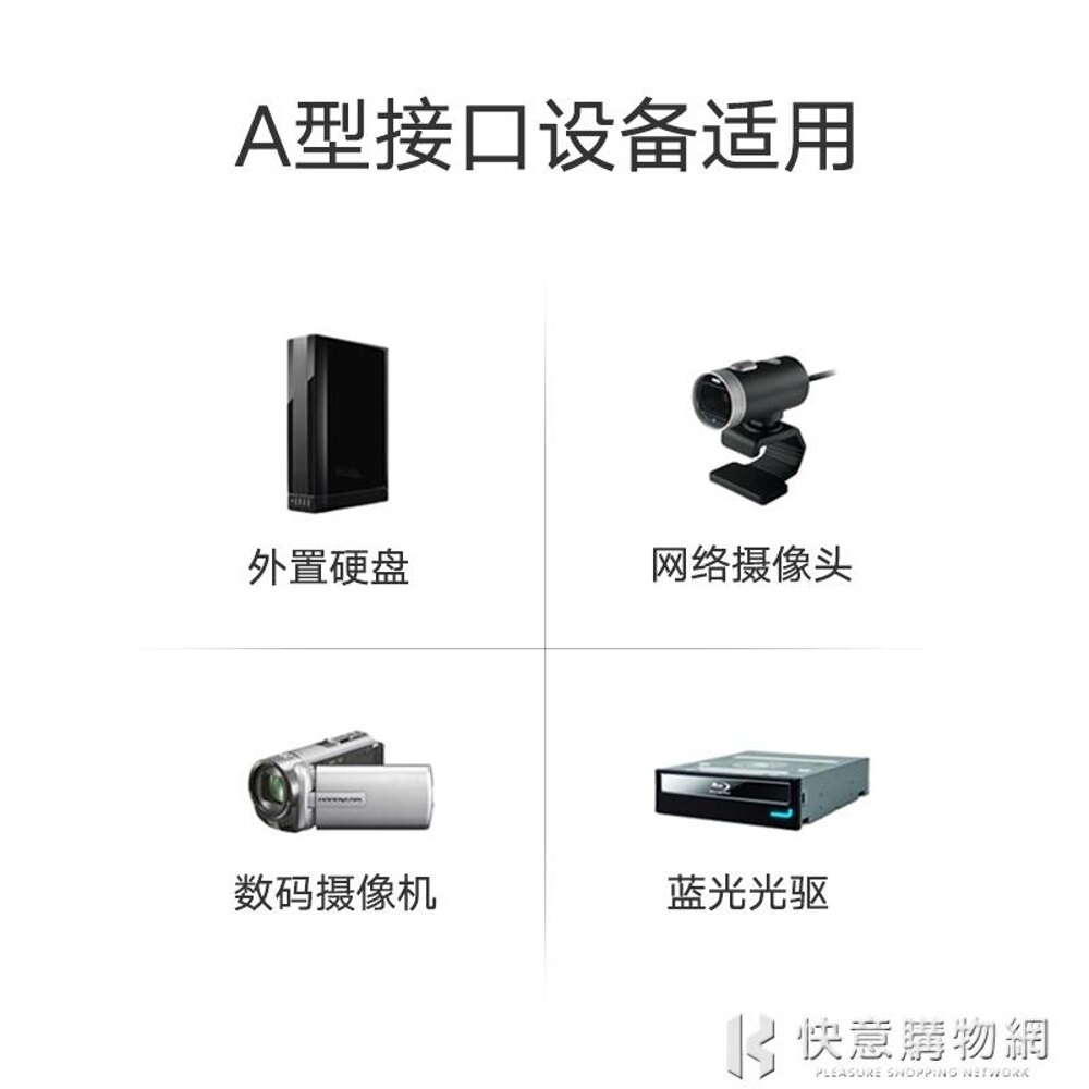 USB3.0打印機數據線A公對B公鍍金方口硬盤盒數據線連接線2米 快意購物網SUPER 全館特惠9折
