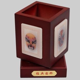 禮邦 經典國粹 玉石筆筒高檔商務禮品擺件擺飾家居裝飾品