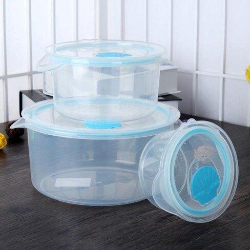 onlycook保鮮盒套裝密封盒3件套微波爐飯盒冰箱收納水果保鮮碗   伊卡萊生活館  聖誕節禮物
