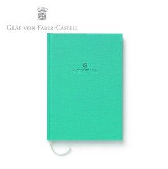 【Graf Von Faber-Castell】頂級麻布筆記本A5 綠松石 V188667  /本