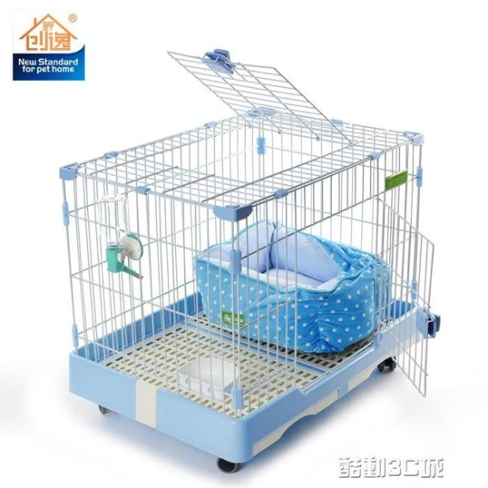 寵物籠 創逸狗籠子小型犬泰迪博美帶廁所寵物籠子 26省狗籠子中型犬