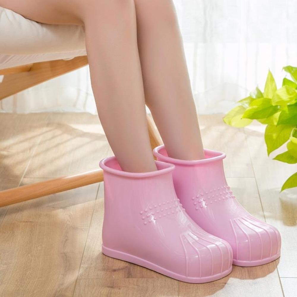 泡腳鞋 泡腳鞋高筒足浴鞋情侶足底按摩男女式足療鞋棉拖鞋女冬季新品 歐歐流行館