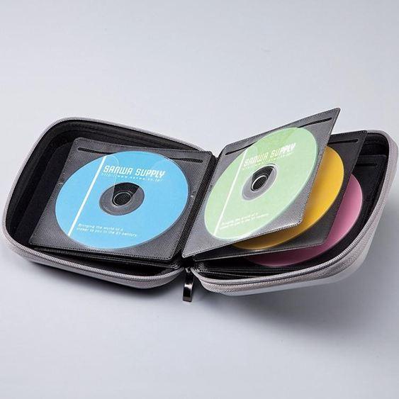 日本SANWA車載碟片包藍光CD盒光盤包光碟包收納24/36/48/104/160