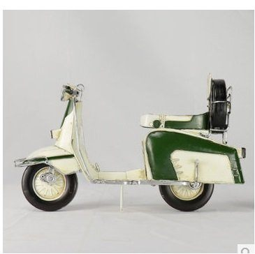 羅馬假日赫本腳踏摩托車踏板車模型