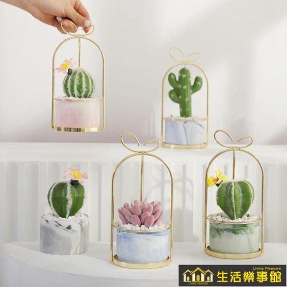 ins北歐多肉仿真植物仙人掌盆栽室內客廳綠植裝飾假花桌面小擺件