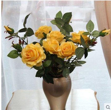 知根仿真花假花絹花玫瑰高仿真花園林玫瑰家居裝飾花卉客廳(一枝價)(圖一)