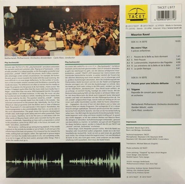 【停看聽音響唱片】【黑膠LP】Maurice Ravel