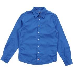 《期間限定セール開催中!》COTTON BELT ボーイズ 3-8 歳 シャツ ブルー 4 コットン 100%