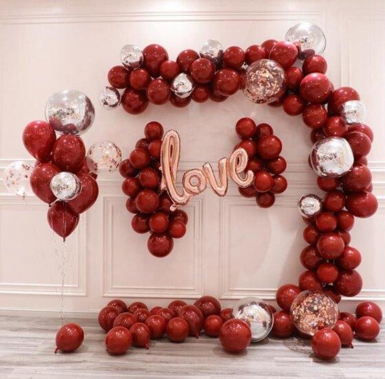 派對用品-網紅軟拱門不規則氣球鏈婚房裝飾婚禮生日派對布置甜品臺氣球套餐  聖誕節禮物