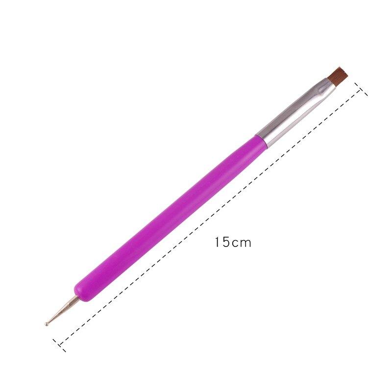 sasa美甲批發城~**新款雙頭點鑽美甲筆 光療水晶筆 勾畫彩繪筆 木質筆桿點鑽筆 美甲工具