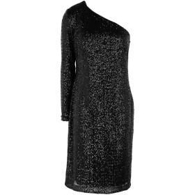 《セール開催中》LAUREN RALPH LAUREN レディース ひざ丈ワンピース ブラック 0 ナイロン 100% MARRI ONE SHOULDER COCKTAIL DRESS