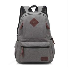 RRSHUN カジュアルキャンバスバックパック学校バッグバッグを使用して