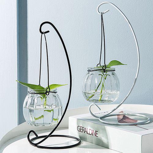 ✤宜家✤小清新懸掛玻璃花瓶 創意透明裝飾瓶 水耕植物花瓶