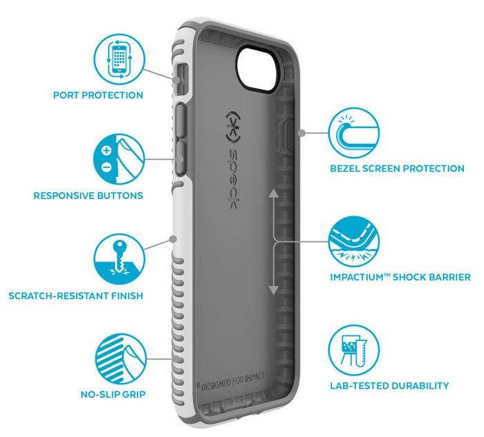 Speck iPhone 7 四角加壓 抗衝擊保護殼 黑灰色