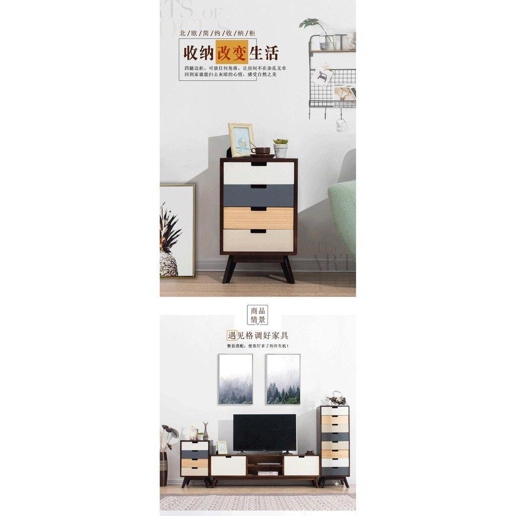 實木斗櫃儲物櫃臥室床頭櫃現代簡約抽屜櫃歐式收納櫃邊櫃組合斗櫃ATF