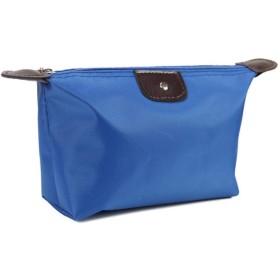1PC多機能化粧バッグ女性化粧品バッグオーガナイザーボックスレディースハンドバッグナイロントラベルストレージバッグウォッシュバッグ5色,青