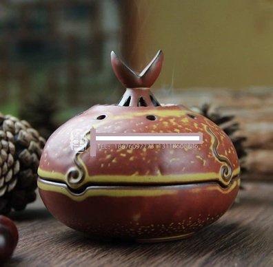 生生不息陶瓷香爐 創意檀香爐沉香線香盤香爐送香架香道擺件